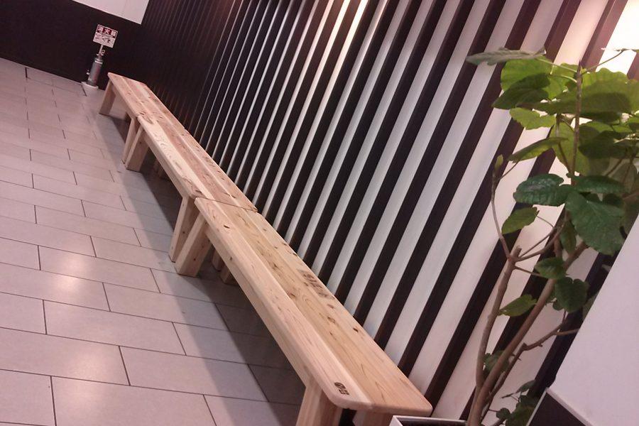 奈良県産材ベンチ寄贈式